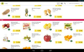 Screenshot of Morrisons Groceries