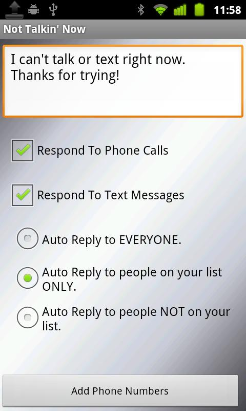 Text(SMS) & Call Auto Reply + - screenshot