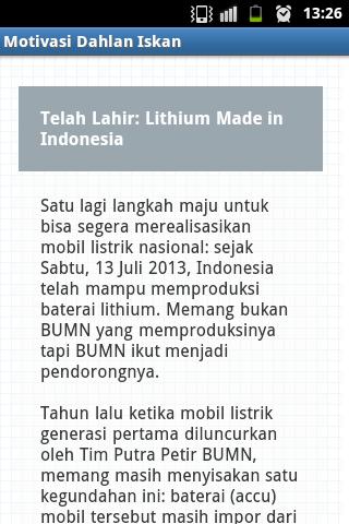 玩書籍App|Motivasi Dahlan Iskan免費|APP試玩