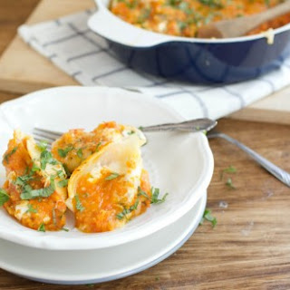 Ricotta Stuffed Shells with Roasted Tomato Sauce