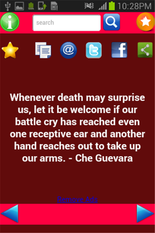 Quotes of Che- screenshot