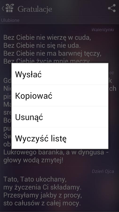 Gratulacje i życzenia- screenshot