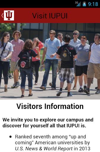 【免費旅遊App】Visit IUPUI-APP點子