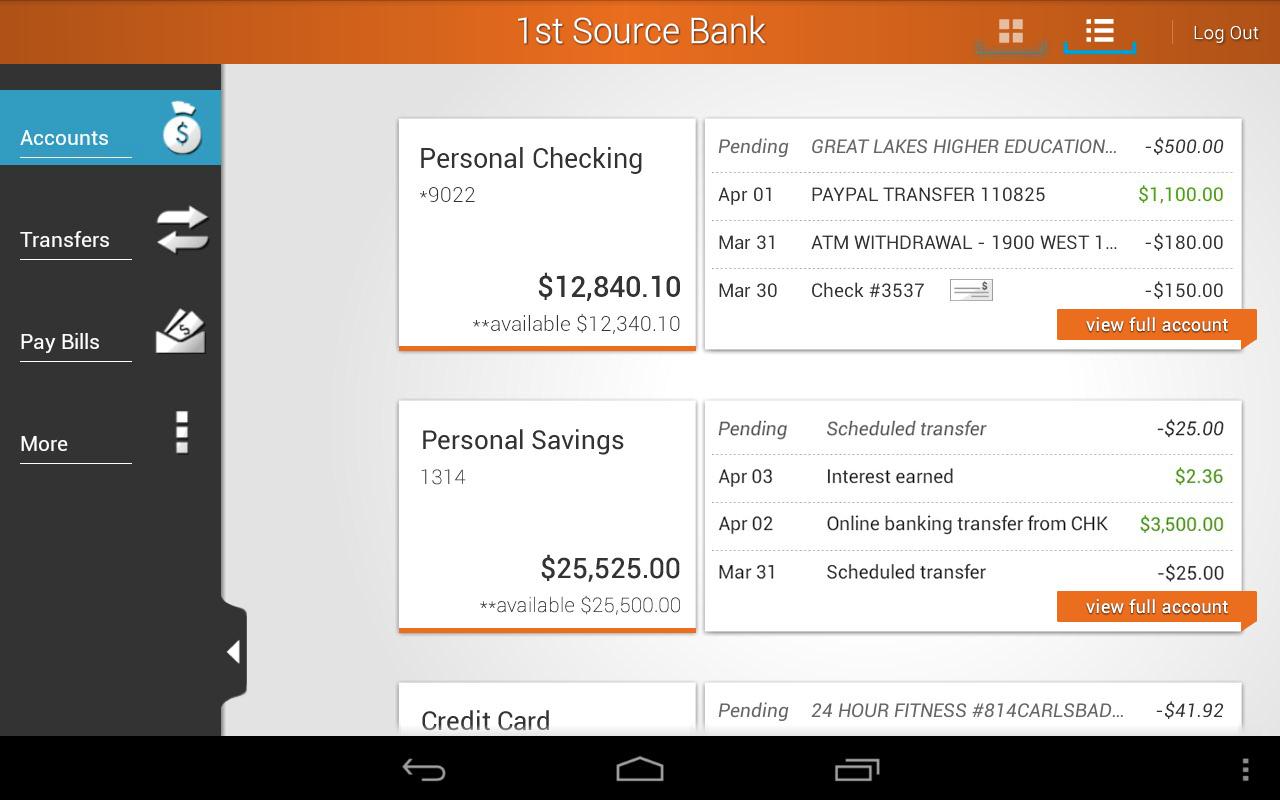 1st Source Bank Mobile - screenshot