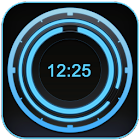 Digital Clock Disc Widget icon