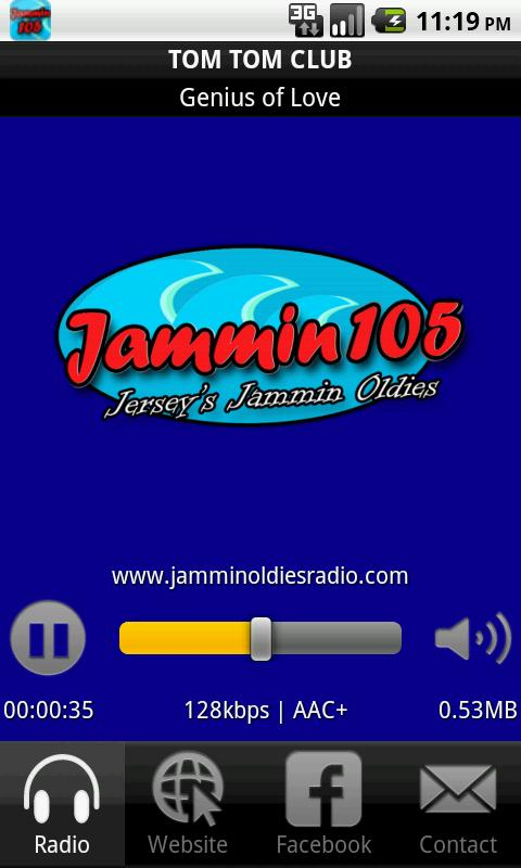 Jammin 105- screenshot