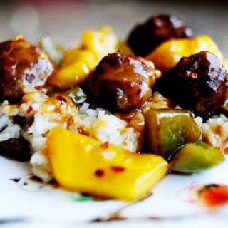 Meatballs with Peppers and Pineapple.