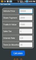 Screenshot of Car Loan Calc