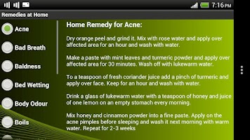 Screenshot of Remedies at Home