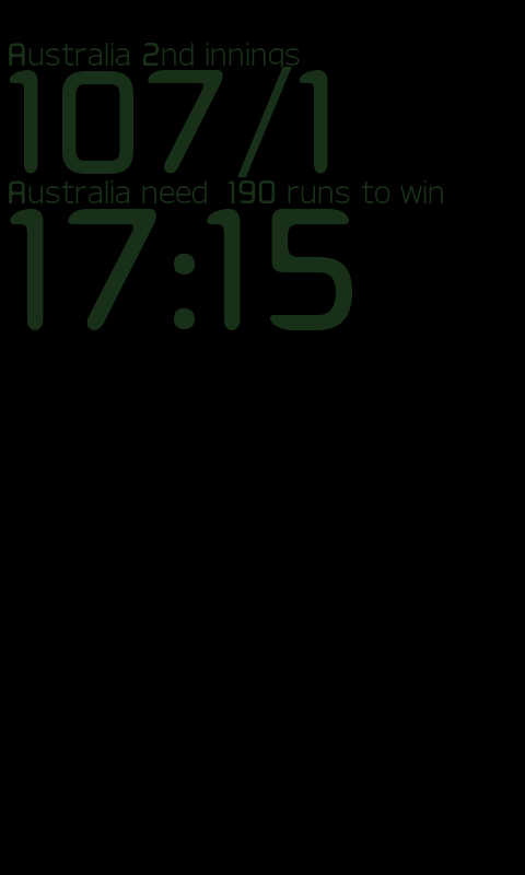 Ashes Test Cricket DeskClock - screenshot
