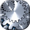 Stainless Gear Clock-Wallpaper logo
