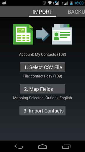 Contacts Import Lite