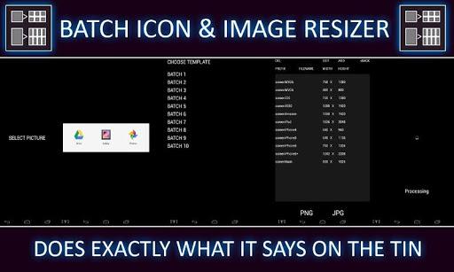 Batch Icon Image Re-sizer FREE