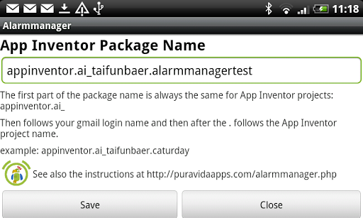 Alarmmanager for App Inventor