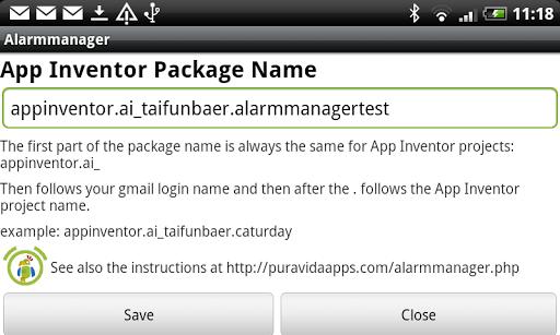 Alarmmanager for App Inventor