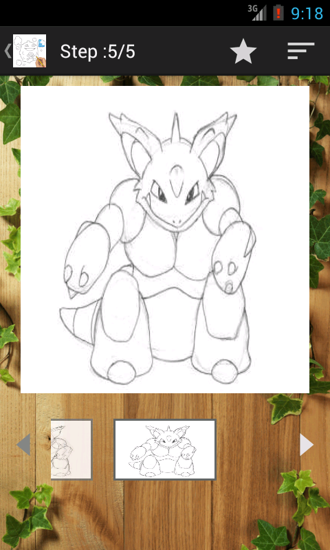 Draw Pokemon Step by Step - screenshot