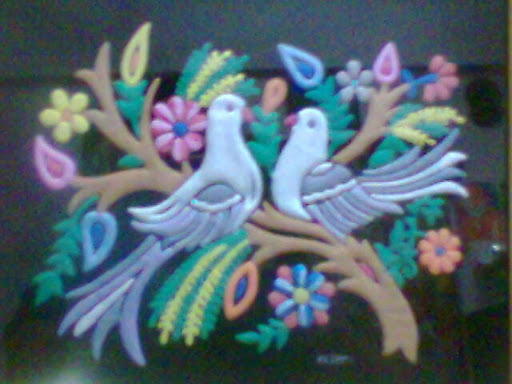 Emboss Painting-Love Birds