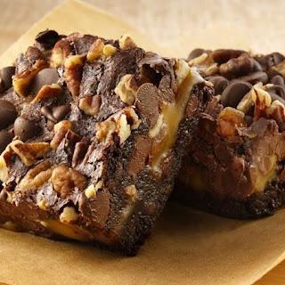 Gluten-Free Turtle Brownies.