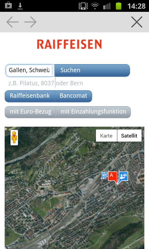 Raiffeisen - screenshot
