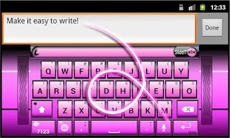 Screenshot of SlideIT Pink Metal Skin