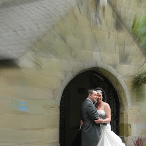 Together through time by Mick Greaves - Wedding Bride & Groom ( closeness, holding, bride and groom, bride, groom,  )