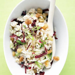 Rice Salad with Raisins and Scallions.