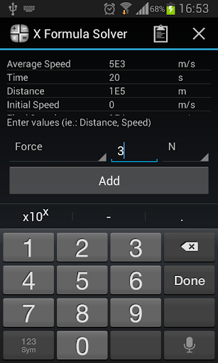 X Formula Solver