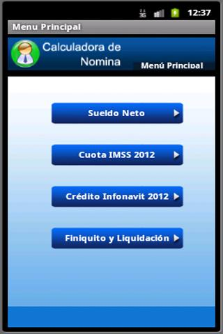 Calculadora de Nomina - screenshot