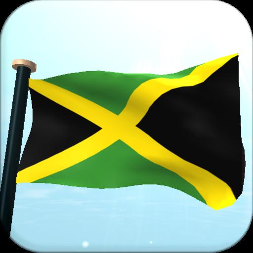 牙買加旗3D動態桌布 LOGO-APP點子