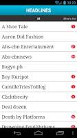 Screenshot of Headlines (Philippines News)