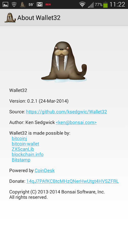 Wallet32- screenshot