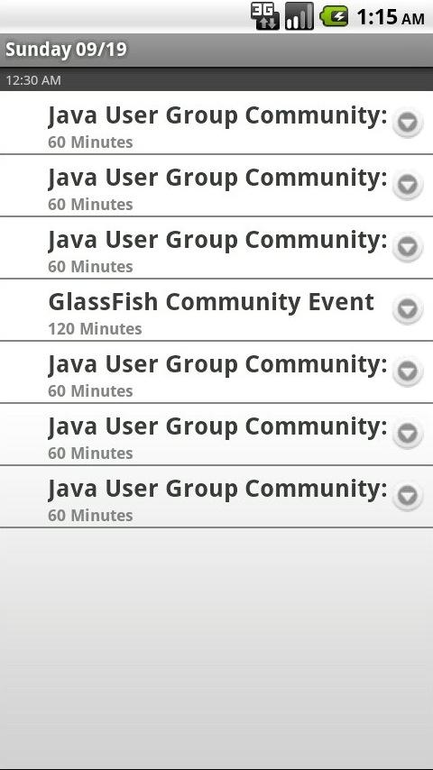 JavaOne/Oracle Dev Community - screenshot