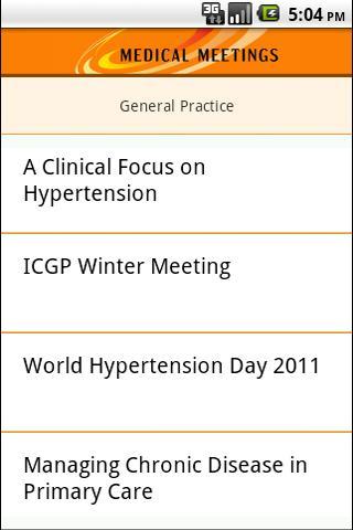 Medical Meetings- screenshot