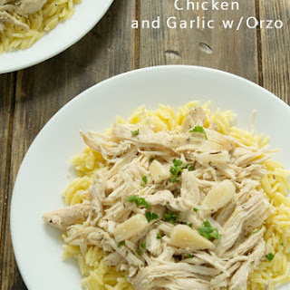 Slow Cooker Chicken and Garlic with Orzo.