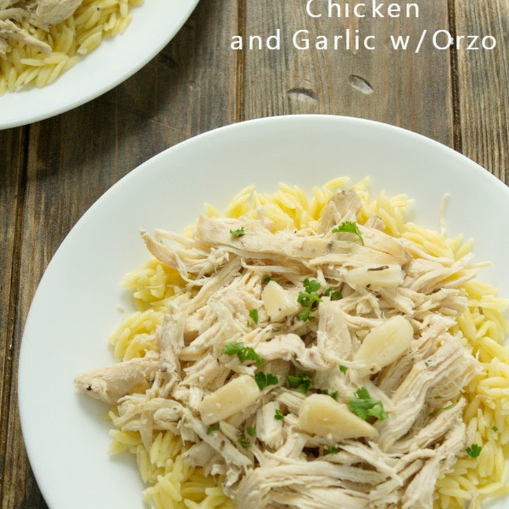 Slow Cooker Chicken and Garlic with Orzo