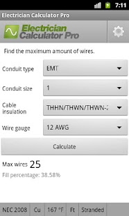 Electrician Calculator Pro - screenshot thumbnail