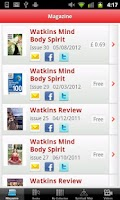 Screenshot of Mind Body Spirit Books Watkins