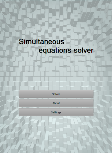 Simultaneous equations solver
