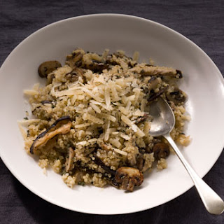 Quinoa Risotto with Mushrooms and Thyme.