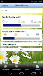 Pollenwarner von Tempo&Otriven - screenshot thumbnail