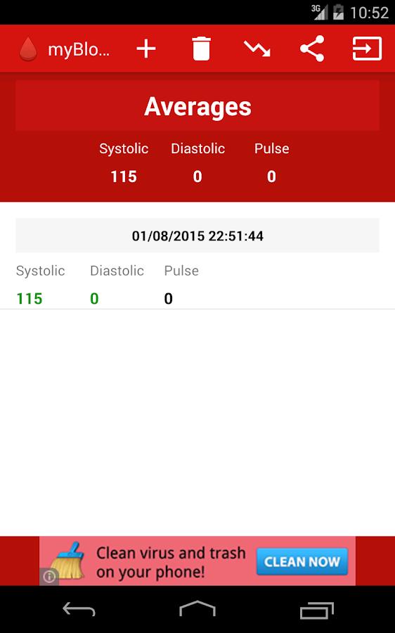 myBloodPressure Free - screenshot