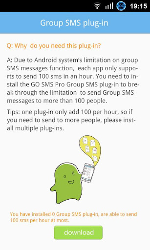 GO SMS Group sms plug-in 6