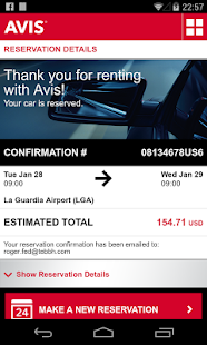 Avis Car Rental - screenshot thumbnail