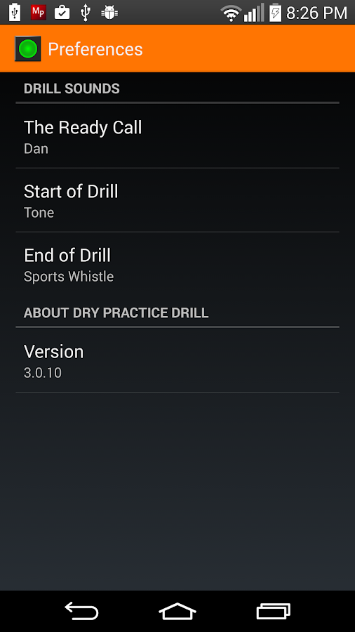 Dry Practice Drill- screenshot