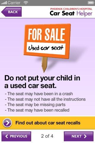 Car Seat Helper - screenshot