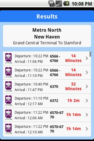 iTransitBuddy Metro North Lite- screenshot
