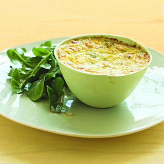Summer Squash Goat-Cheese Custard