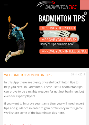 Badminton Tips and Guide