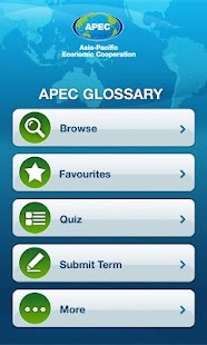APEC Glossary- screenshot thumbnail