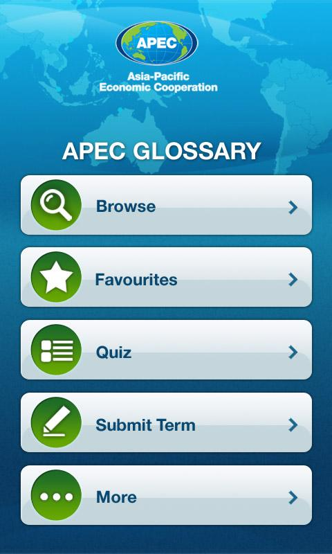 APEC Glossary - screenshot